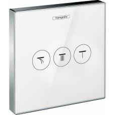 Переключатель потоков Hansgrohe ShowerSelect 15736400 белый, на 3 позиции