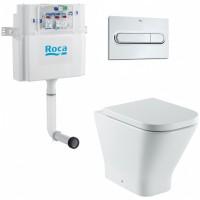 Унитаз приставной с бачком скрытого монтажа и кнопкой смыва Roca Gap 893109000