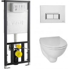 Унитаз с инсталляцией и кнопкой смыва VitrA Arkitekt 9005B003-7211