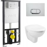 Унитаз с инсталляцией и кнопкой смыва VitrA Normus 9773B003-7200