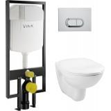 Унитаз с инсталляцией и кнопкой смыва VitrA Normus 9773B003-7202