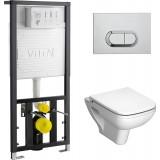 Унитаз с инсталляцией и кнопкой смыва VitrA S20 9004B003-7204