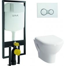 Унитаз с инсталляцией и кнопкой смыва VitrA Zentrum 9012B003-7205